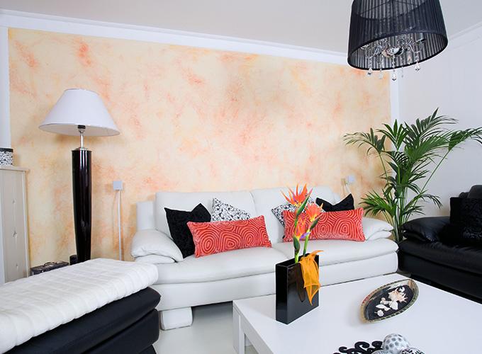 manfred damiani - wohnzimmer privat - wandgestaltung